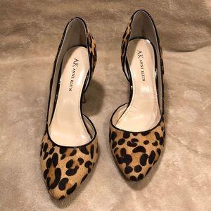 Anne Klein leopard print heels